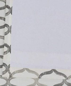 Half Price Drapes PRCT D02 108 Illusions Silver Printed Cotton Curtain 50 X 108 Grey 0 5 300x360