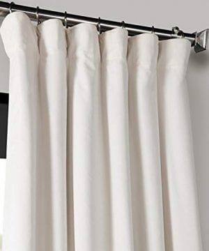 Half Price Drapes VPCH 120601 96 Signature Blackout Velvet Curtain Ivory 50 X 96 0 0 300x360