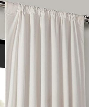 Half Price Drapes VPCH 120601 96 Signature Blackout Velvet Curtain Ivory 50 X 96 0 1 300x360