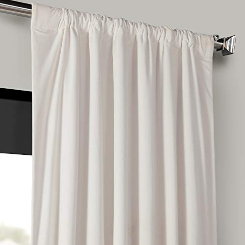 Half Price Drapes VPCH 120601 96 Signature Blackout Velvet Curtain Ivory 50 X 96 0 1