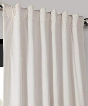 Half Price Drapes VPCH 120601 96 Signature Blackout Velvet Curtain Ivory 50 X 96 0 2 300x360