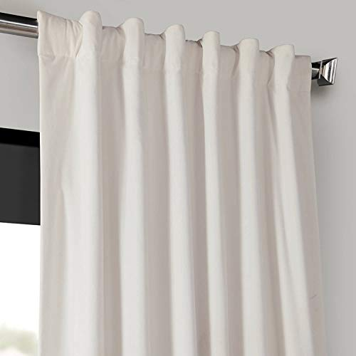 Half Price Drapes VPCH 120601 96 Signature Blackout Velvet Curtain Ivory 50 X 96 0 2