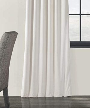 Half Price Drapes VPCH 120601 96 Signature Blackout Velvet Curtain Ivory 50 X 96 0 3 300x360
