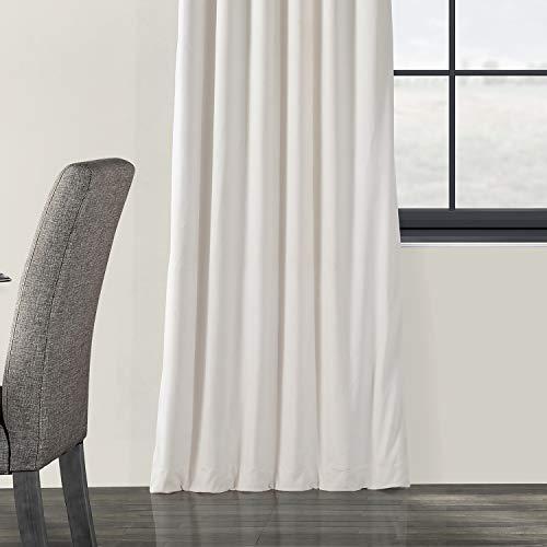 Half Price Drapes VPCH 120601 96 Signature Blackout Velvet Curtain Ivory 50 X 96 0 3