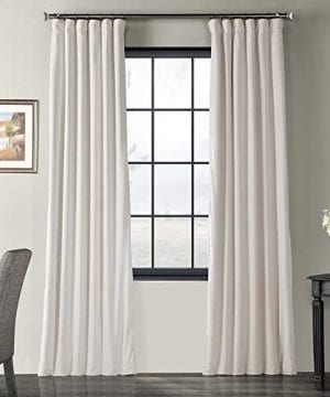 Half Price Drapes VPCH 120601 96 Signature Blackout Velvet Curtain Ivory 50 X 96 0 300x360
