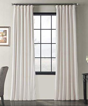 Half Price Drapes VPCH 120601 96 Signature Blackout Velvet Curtain Ivory 50 X 96 0 300x360