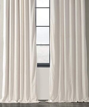 Half Price Drapes VPCH 120601 96 Signature Blackout Velvet Curtain Ivory 50 X 96 0 4 300x360