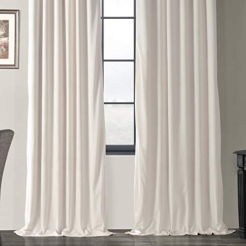 Half Price Drapes VPCH 120601 96 Signature Blackout Velvet Curtain Ivory 50 X 96 0 4