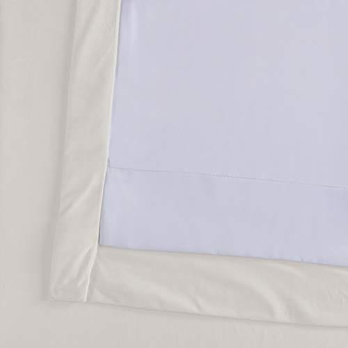 Half Price Drapes VPCH 120601 96 Signature Blackout Velvet Curtain Ivory 50 X 96 0 5