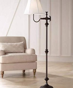 Hancock Traditional Floor Lamp Bronze Off White Natural Linen Empire Shade For Living Room Reading Bedroom Office Regency Hill 0 300x360