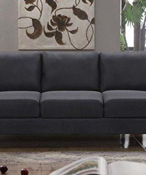 HarperBright Designs 3 Piece Sofa Loveseat Chair Sectional Sofa Set Living Room Furniture Living Room Sofa Black 0 0 300x360