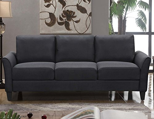 HarperBright Designs 3 Piece Sofa Loveseat Chair Sectional Sofa Set Living Room Furniture Living Room Sofa Black 0 0
