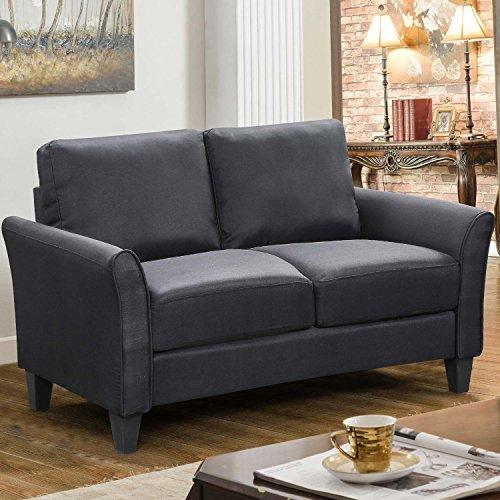 HarperBright Designs 3 Piece Sofa Loveseat Chair Sectional Sofa Set Living Room Furniture Living Room Sofa Black 0 1