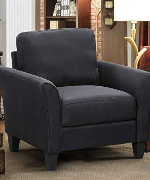 HarperBright Designs 3 Piece Sofa Loveseat Chair Sectional Sofa Set Living Room Furniture Living Room Sofa Black 0 2 300x360