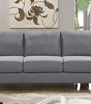HarperBright Designs Living Room Sets Furniture Armrest Sofa Single Chair Sofa Loveseat Chair 3 Seat Sofa ChairLoveseat Chair3 Seat Sofa Light Grey 0 0 300x344