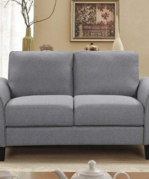 HarperBright Designs Living Room Sets Furniture Armrest Sofa Single Chair Sofa Loveseat Chair 3 Seat Sofa ChairLoveseat Chair3 Seat Sofa Light Grey 0 1 300x360