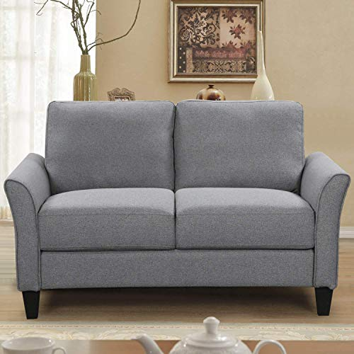 HarperBright Designs Living Room Sets Furniture Armrest Sofa Single Chair Sofa Loveseat Chair 3 Seat Sofa ChairLoveseat Chair3 Seat Sofa Light Grey 0 1