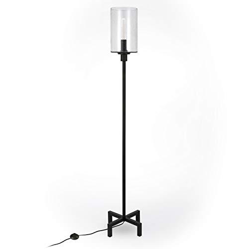 HennHart FL0011 Modern Farmhouse Seeded Lamp One Size Black 0 0