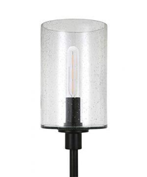 HennHart FL0011 Modern Farmhouse Seeded Lamp One Size Black 0 4 300x360