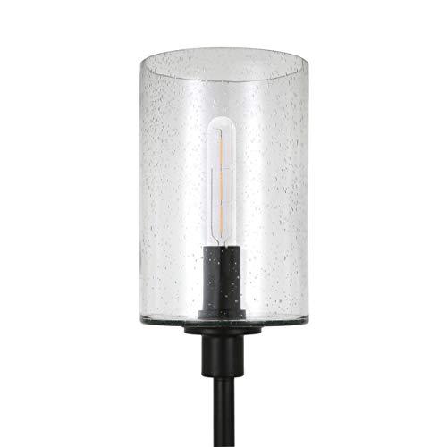 HennHart FL0011 Modern Farmhouse Seeded Lamp One Size Black 0 4