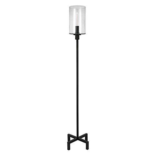 HennHart FL0011 Modern Farmhouse Seeded Lamp One Size Black 0