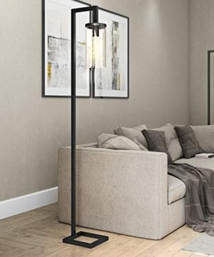 HennHart FL0014 Modern Farmhouse Seeded Task Lamp One Size Black 0 300x360
