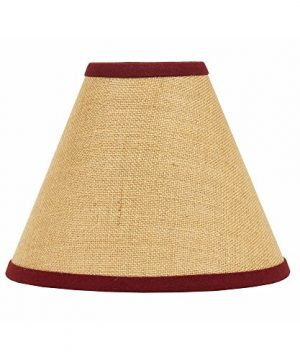 Home Collection By Raghu Burlap Stripe 12 Lampshade Regular Clip Barn Red 0 300x360