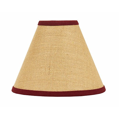 Home Collection By Raghu Burlap Stripe 12 Lampshade Regular Clip Barn Red 0