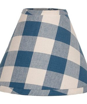 Home Collections By Raghu 16 Inch Lamp Shade Buffalo Check Colonial Blue Buttermilk Washer 0 300x360