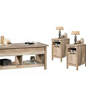 Home Square 3 Piece Coffee Table Set With Set Of 2 End Table And Coffee Table In Lintel Oak 0 300x360