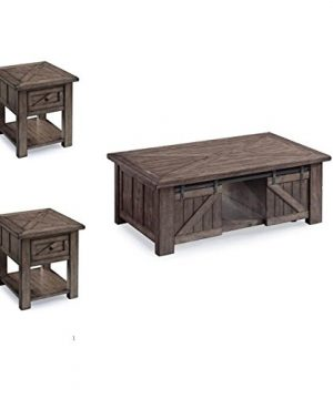 Home Square 3 Piece Coffee And End Table Set In In Weathered Charcoal 0 300x360
