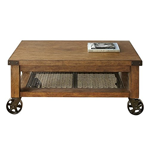 Home Square 3 Piece Coffee Table Set With And Of 2 End In Distressed Oak