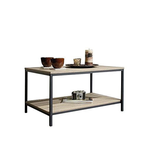 Home Square 4 Piece Living Room Set with Storage TV Stand, Coffee Table,  and Set of 2 End Tables in Charter Oak