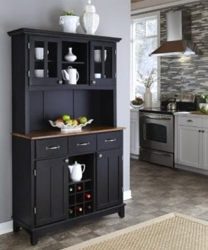 Home Styles 5100 0046 42 Buffet Of Buffets Cottage Oak Wood Top Buffet With Hutch Black Finish 41 34 Inch 0 0 300x360