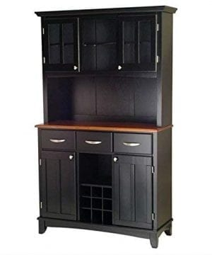 Home Styles 5100 0046 42 Buffet Of Buffets Cottage Oak Wood Top Buffet With Hutch Black Finish 41 34 Inch 0 1 300x360