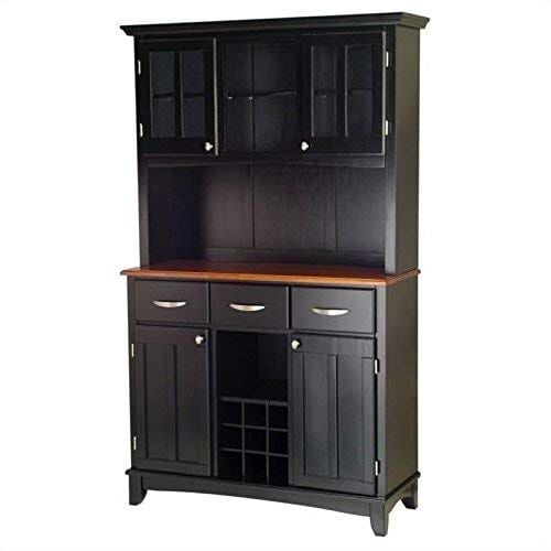 Home Styles 5100 0046 42 Buffet Of Buffets Cottage Oak Wood Top Buffet With Hutch Black Finish 41 34 Inch 0 1