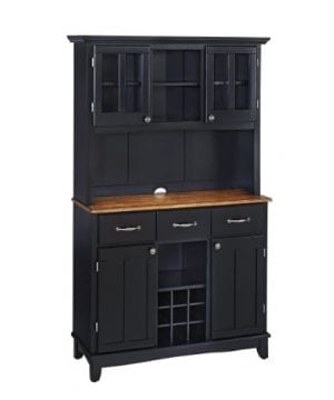Home Styles 5100 0046 42 Buffet Of Buffets Cottage Oak Wood Top Buffet With Hutch Black Finish 41 34 Inch 0 300x360