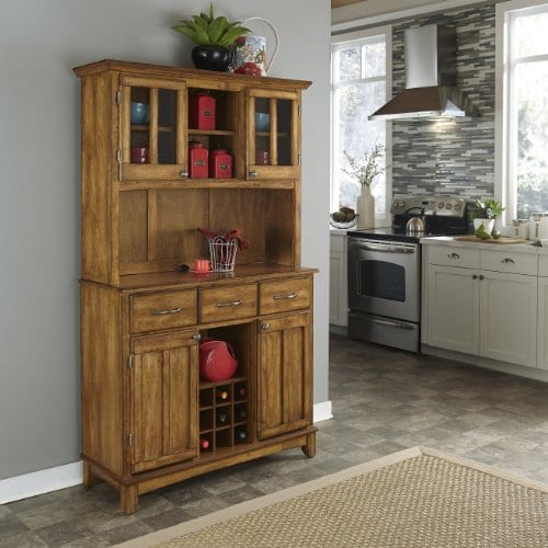 Home Styles 5100 0066 62 Buffet Of Buffets Cottage Oak Wood With Hutch Cottage Oak Finish 41 34 Inch 0 0