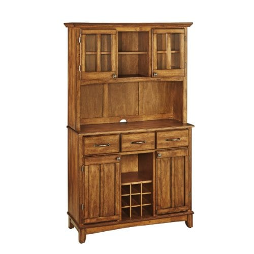 Home Styles 5100 0066 62 Buffet Of Buffets Cottage Oak Wood With Hutch Cottage Oak Finish 41 34 Inch 0