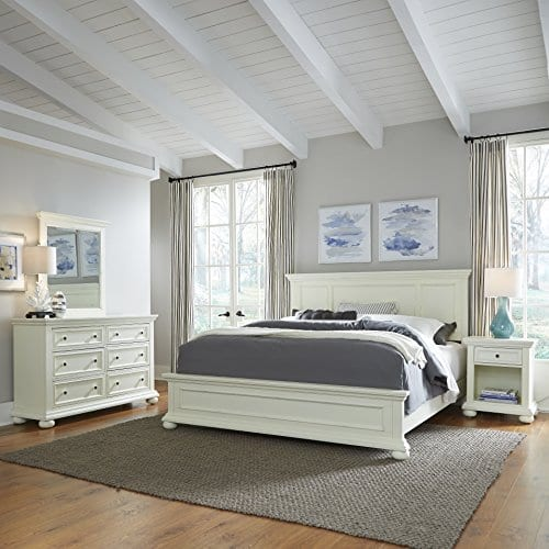 Home Styles 5427 601 Dover King Headboard Antique White 0 4