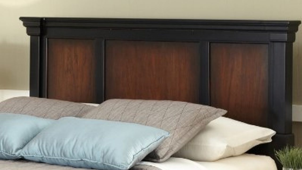 Home Styles Aspen Rustic Cherry And Black Queen Headboard With Raised Panels Picture Frame Moldings And Detailed Posts Farmhouse Goals