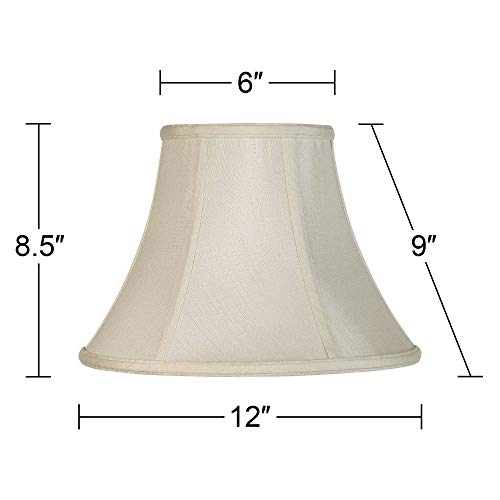 Imperial Collection Creme Bell Lamp Shade 6x12x9 Spider Imperial Shade 0 3
