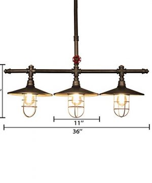 Industrial Retro Vintage Style Island Light NIUYAO Farmhouse Industry Steam Punk Water Pipe Rustic Saucer Pendant Lighting For Dining Room Kitchen Island Cafe Bar 511166 0 1 300x360