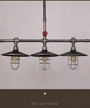 Industrial Retro Vintage Style Island Light NIUYAO Farmhouse Industry Steam Punk Water Pipe Rustic Saucer Pendant Lighting For Dining Room Kitchen Island Cafe Bar 511166 0 2 300x360
