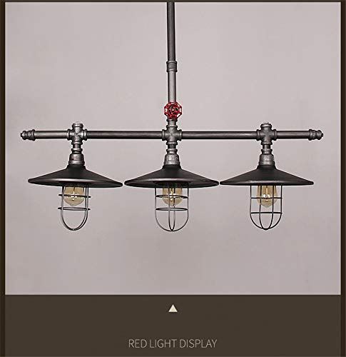 Industrial Retro Vintage Style Island Light NIUYAO Farmhouse Industry Steam Punk Water Pipe Rustic Saucer Pendant Lighting For Dining Room Kitchen Island Cafe Bar 511166 0 2