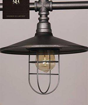 Industrial Retro Vintage Style Island Light NIUYAO Farmhouse Industry Steam Punk Water Pipe Rustic Saucer Pendant Lighting For Dining Room Kitchen Island Cafe Bar 511166 0 3 300x360