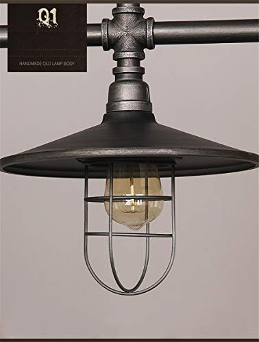 Industrial Retro Vintage Style Island Light NIUYAO Farmhouse Industry Steam Punk Water Pipe Rustic Saucer Pendant Lighting For Dining Room Kitchen Island Cafe Bar 511166 0 3