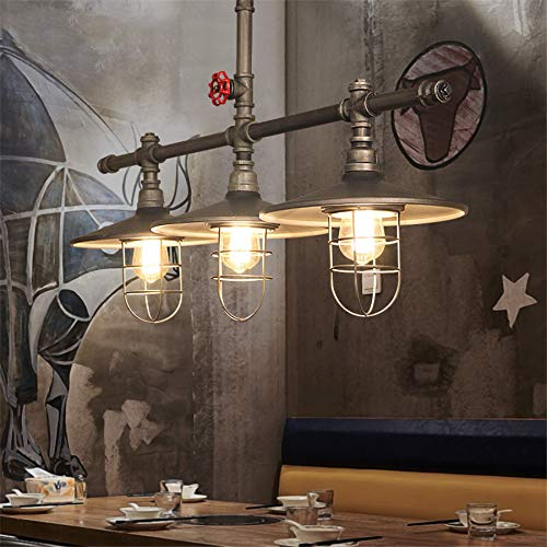 Industrial Retro Vintage Style Island Light NIUYAO Farmhouse Industry Steam Punk Water Pipe Rustic Saucer Pendant Lighting For Dining Room Kitchen Island Cafe Bar 511166 0 4