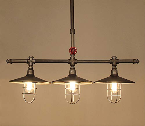 Industrial Retro Vintage Style Island Light NIUYAO Farmhouse Industry Steam Punk Water Pipe Rustic Saucer Pendant Lighting For Dining Room Kitchen Island Cafe Bar 511166 0