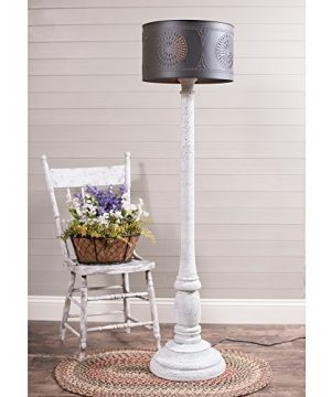 Irvins Country Tinware Brinton Floor Lamp In Farmhouse White With Shade 0 300x360